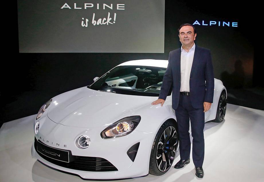 Carlos Ghosn, P.-D.G. de Renault, nourrit de grandes ambitions avec le renouveau d'Alpine.