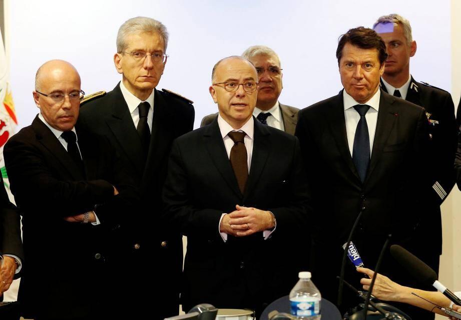Eric Ciotti, Adolphe Colrat, Bernard Cazeneuve et Christian Estrosi.
