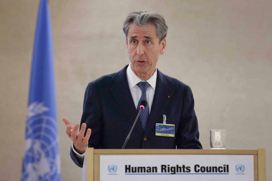 Le conseiller de gouvernement a confirmé l'engagement de Monaco dans la réponse humanitaire à la crise syrienne, et notamment l'accueil et la prise en charge de réfugiés en Principauté.(DR)