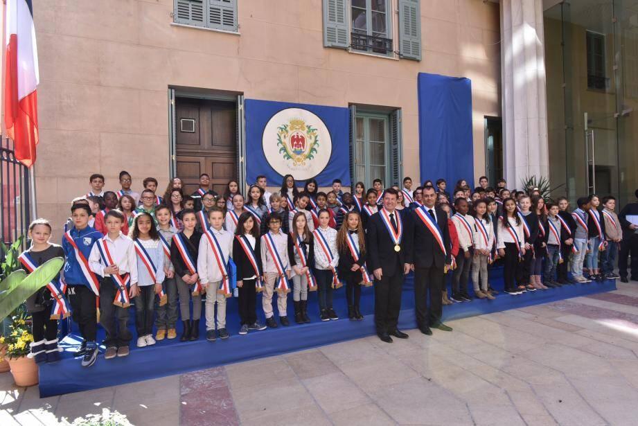 Les 68 conseillers municipaux enfants ont officiellement pris leurs fonctions hier.