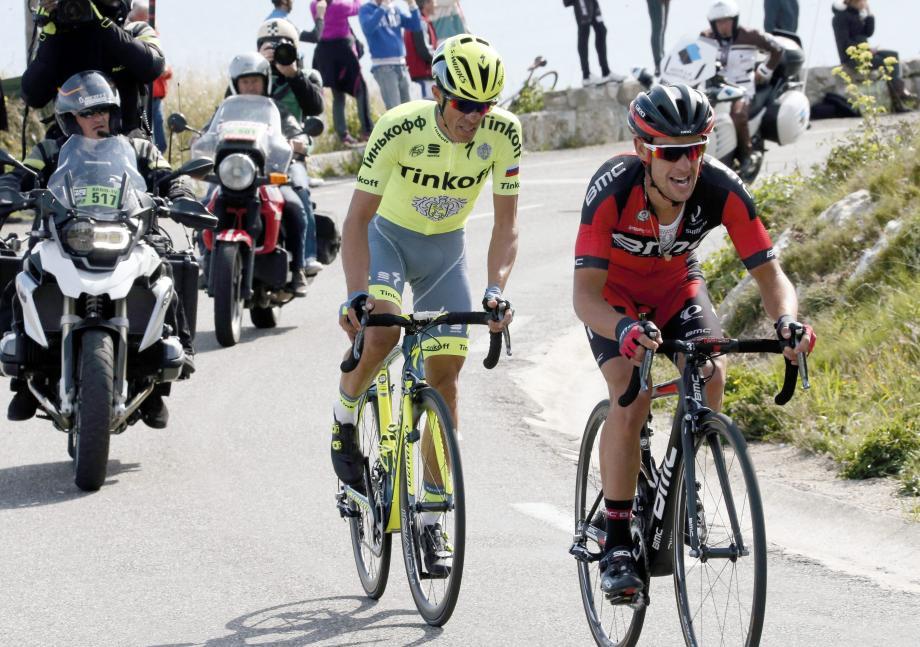 Seul Richie Porte a réussi à accompagner Alberto Contador dans le final du col d'Eze.