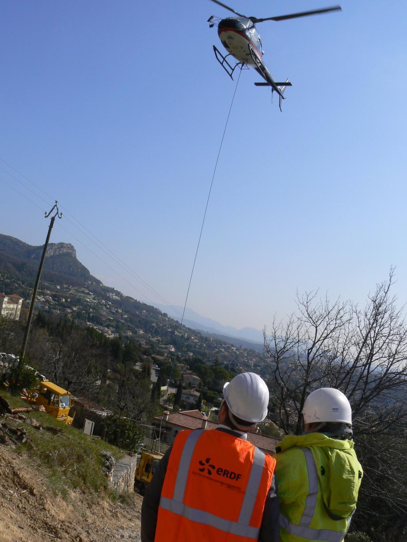 En dix minutes, l'opération a été réalisée grâce à l'hélicoptère.