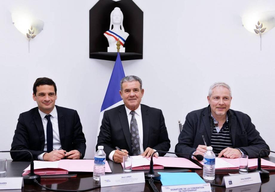 De g.à d. : Paul Maarek, Henri Leroy et Gilles Ravarino.