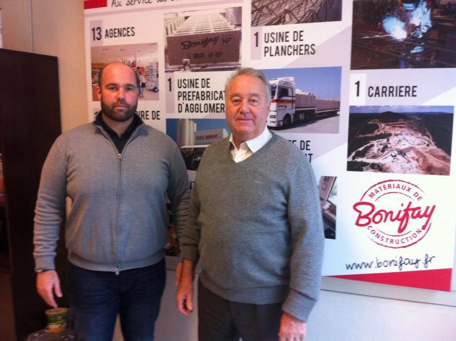 André-Jean Bonifay et son père André.