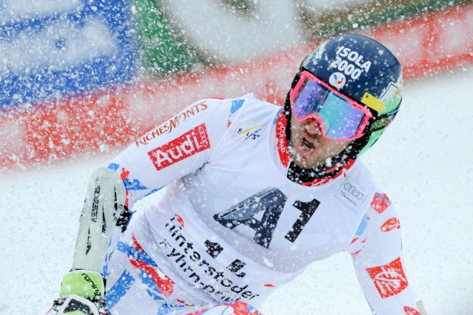 Mathieu Faivre, ici lors de sa 4e place à Hinterstoder fin février, espère finir la saison de Coupe du monde en beauté.