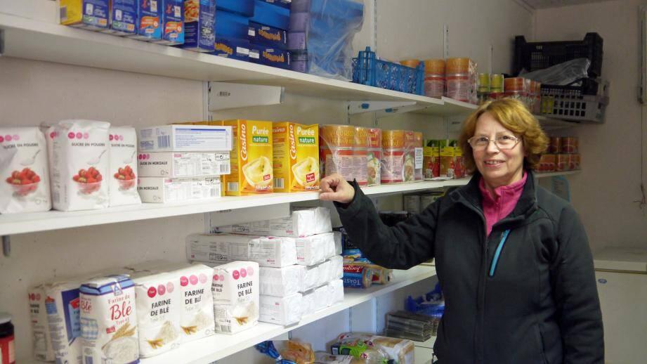 Geneviève Lavaire, espère beaucoup en l'agrandissement de l'épicerie solidaire, afin de pouvoir échanger, autour d'un café avec les personnes en mal d'argent et souvent en mal de reconnaissance.