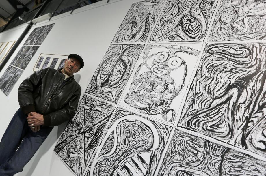 Sélectionnés par André Lauro (photo de gauche), les œuvres des dix artistes sont exposées jusqu'au 24 juillet.