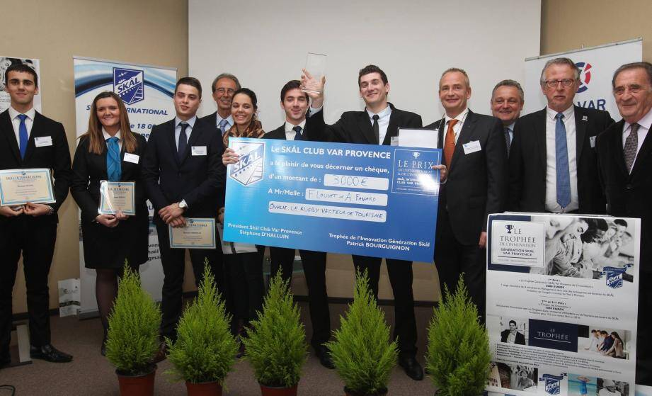 Les lauréats du trophée de l'innovation à la Chambre de commerce et d'industrie de Saint-Raphaël.