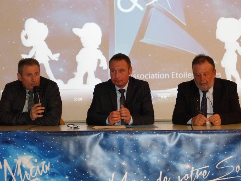 Gilles Bidaut entouré de Patrick Martinelli et de Marc Benintendi.