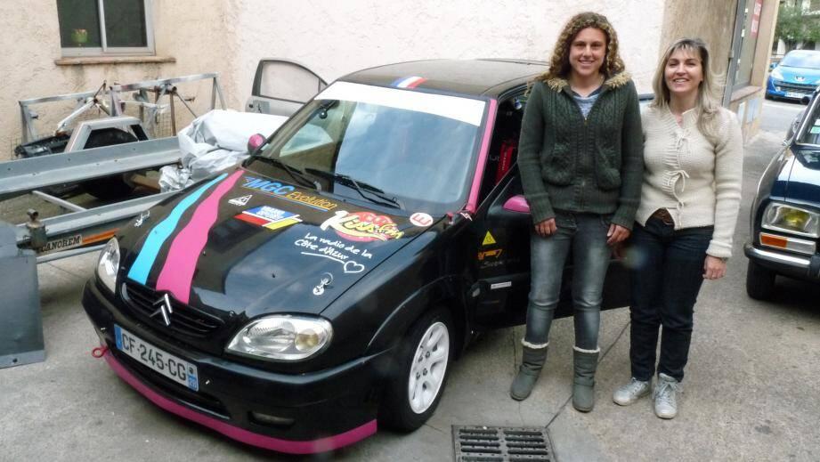 Allison Viano et Katia Lesser, un équipage choc, 100 % chic, qui va participer pour la première fois au rallye Fleurs et Parfums ensemble.