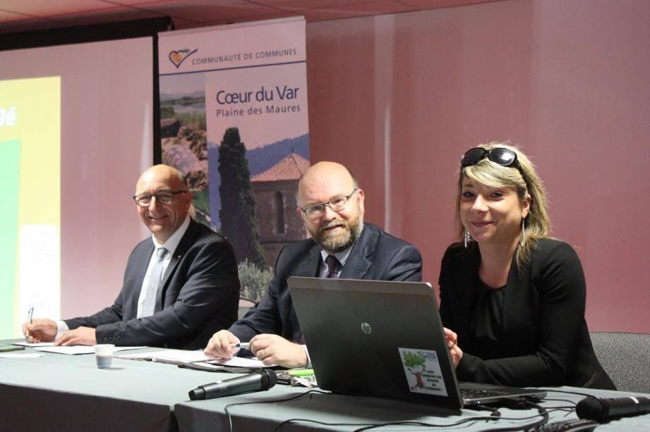Thierry Bongiorno, Philippe Portal et Aniouchka Waisse responsable développement économique.