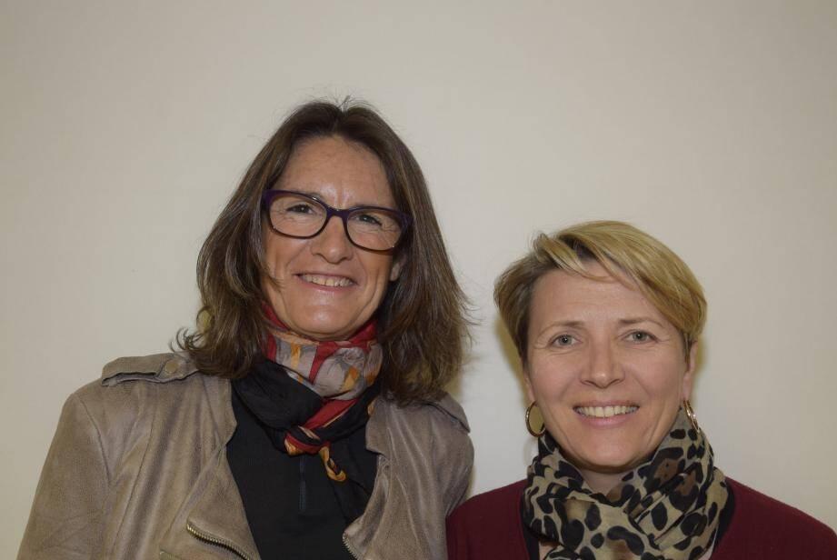 Photo : Hélène et Stéphanie ont animé cette conférence-débat.(S. M.)