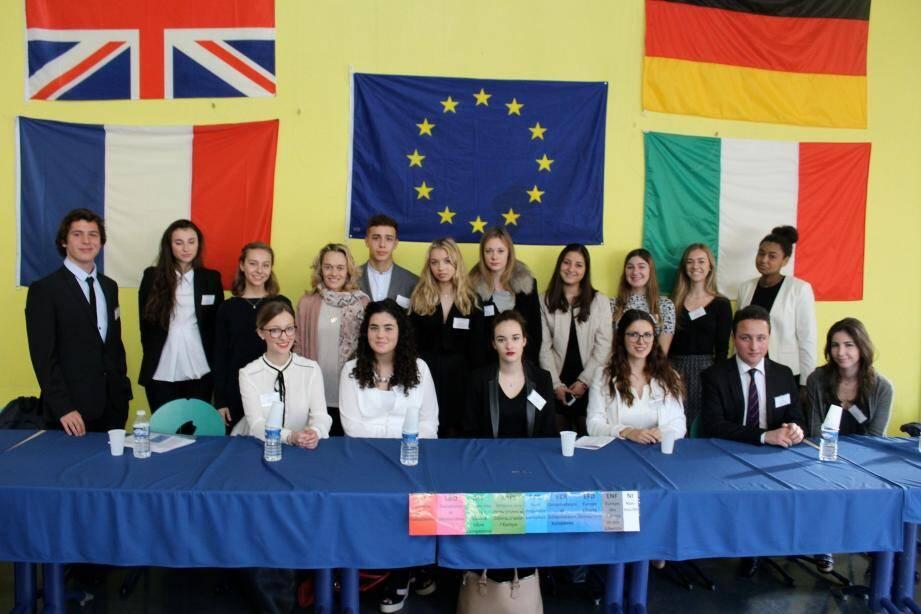 Durent deux jours, les élèves ont débattu de questions européennes au collège de l'Eganaude.