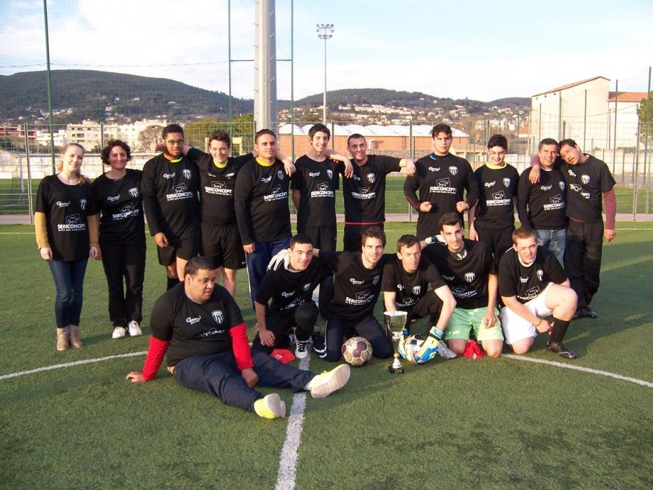La section football de Dracénie sport adapté championne régionale de D3.