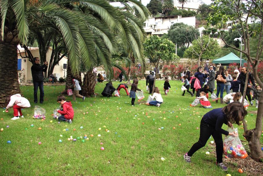 Comme en 2015, c'est dans le jardin des Douaniers que la chasse aux œufs de Cap-d'Ail aura lieu, dimanche de 11 h 30 à 12 h 30.