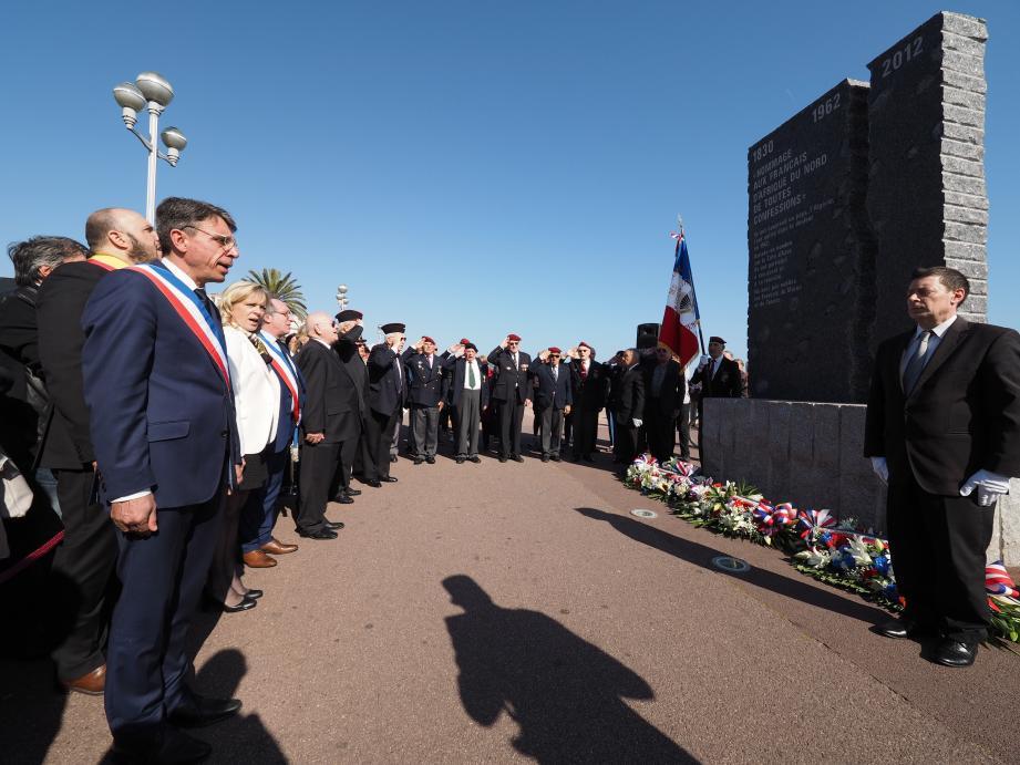 Les rapatriés, leurs familles, les anciens combattants et les élus se sont recueillis 54 ans après la terrible fusillade.