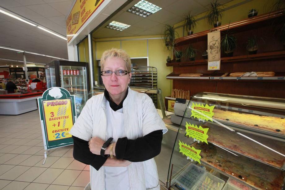 Vingt ans après avoir ouvert la boulangerie-pâtisserie Peter Pain, dans la galerie du supermarché Dia, Anne-Marie Bonin va devoir fermer boutique aujourd'hui.