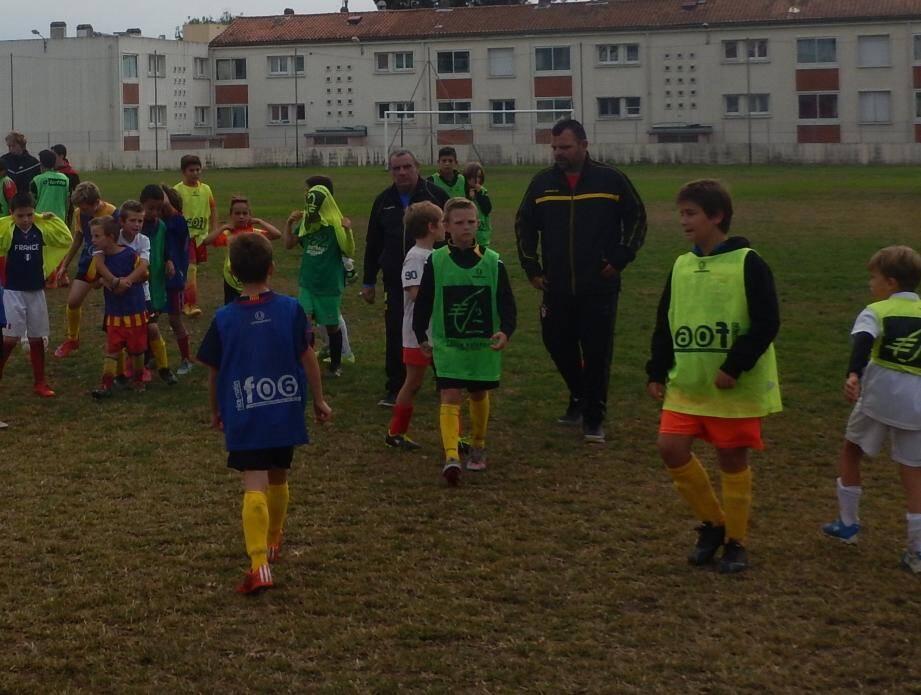 Stage de football pour l'US Sanary durant les vacances.