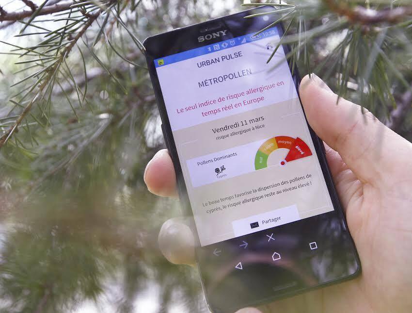 Métropollen est disponible gratuitement avec l'appli Urban Pulse.