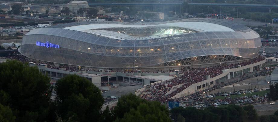 Jour d'inauguration du stade Allianz Riviera