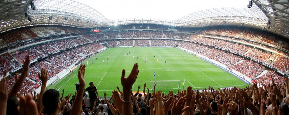 Le stade de l'Allianz Riviera à Nice.