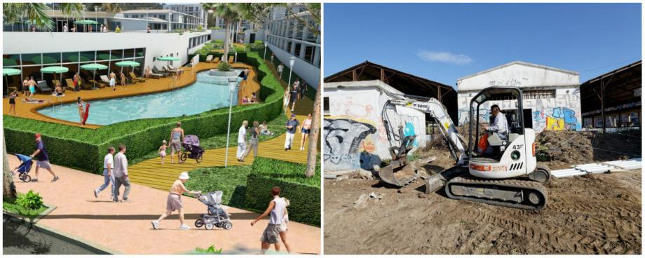 À deux pas de la plage Sainte-Asile, la résidence Cap Azur devrait succéder au printemps 2018 aux pelles mécaniques en action depuis lundi dernier.