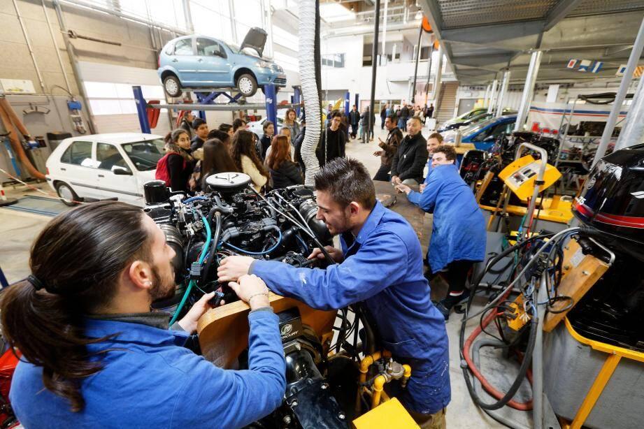 Le CFA de La Seyne propose notamment une formation en mécanique