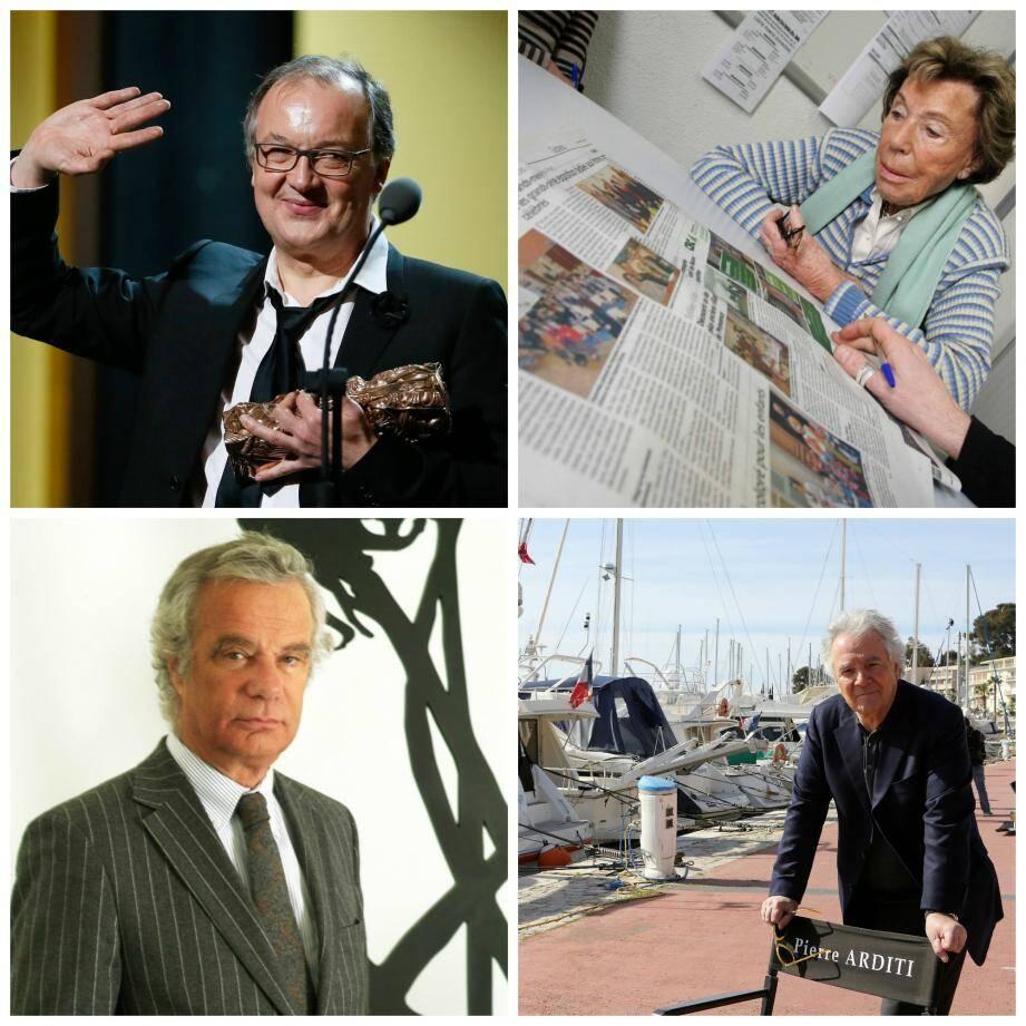 Philippe Faucon (en haut à g.), Benoïte Groult (en haut à d.), Jean-Gabriel Mitterrand (en bas à g.) et Pierre Arditi (en bas à d.)  sont les promus varois de la Légion d'honneur.