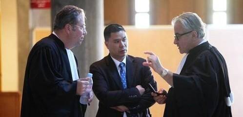 François Levan (au centre) a toujours clamé son innocence.