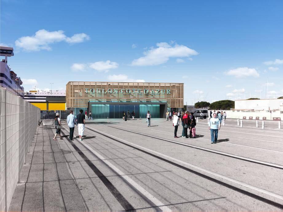 Premier des quatre aménagements d'envergure à venir, la gare maritime sera livrée dès l'été  .(Illustration CCI)