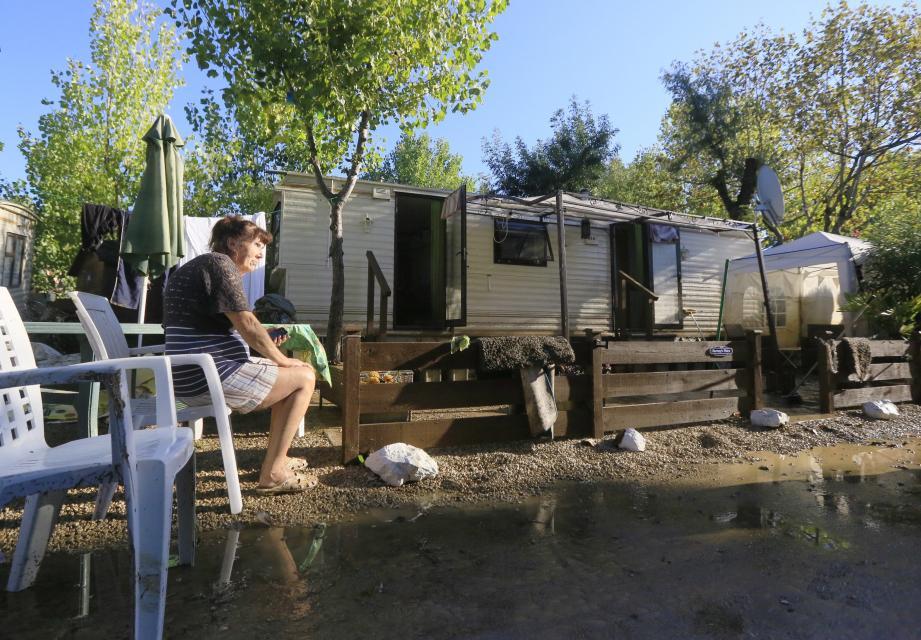 Au camping du Pylône, à Biot, les inondations ont fait de nombreux dégâts et un mort en octobre 2015.