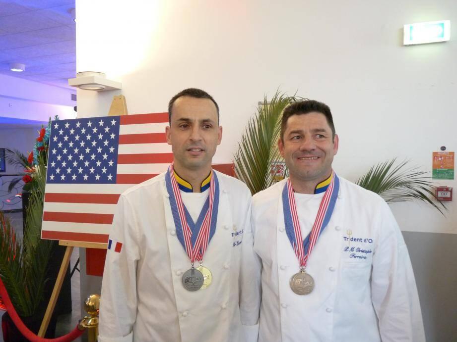 Laurent et Christophe ont assuré l'honneur de la France aux Etats-unis et fièrement représenté la base de défense de Toulon.