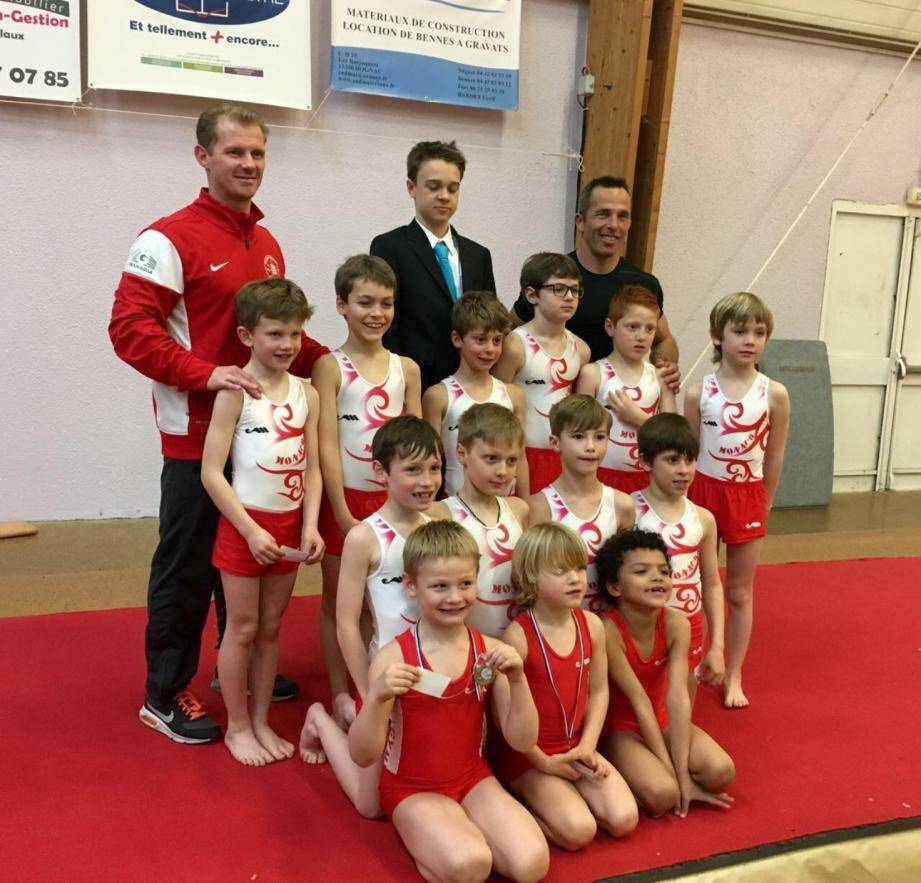 Les petits gymnastes de l'Étoile de Monaco commencent à montrer l'étendue de leur talent naissant lors du championnat régional des Coupes Formation.(DR)