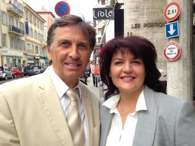 Michel Brutti et sa suppléante Géraldine Genre.
