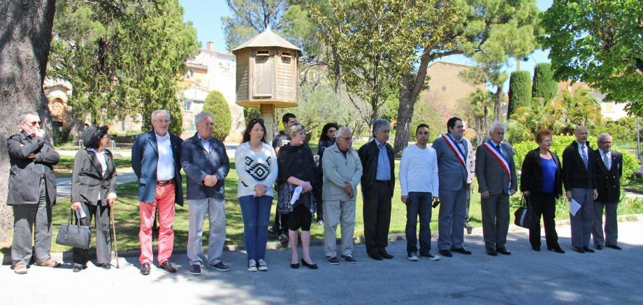 Jour de deuil et de recueillement pour les Arméniens, lors de la commémoration à la stèle de Puget-sur-Argens.