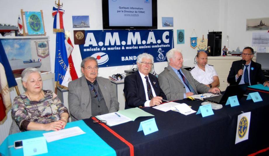Les représentants régionaux et départementaux des Ammac et de la Marine nationale se sont réunis à Bandol.
