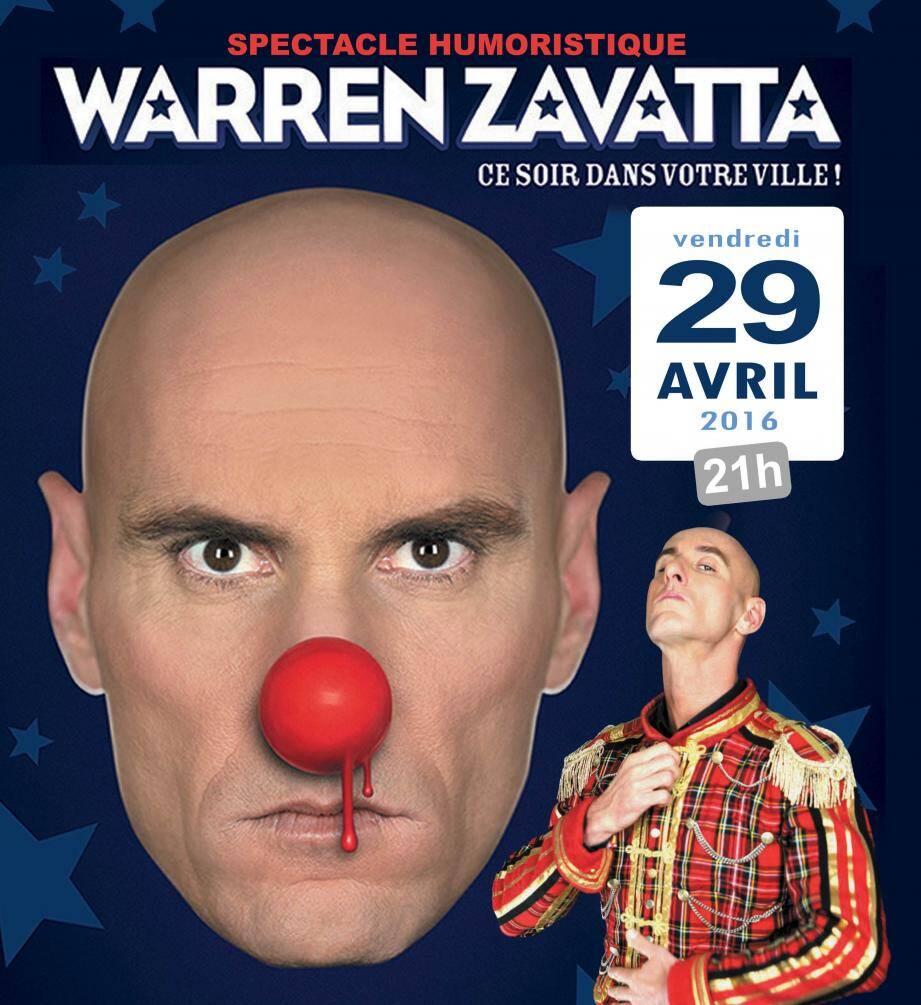 Warren Zavatta sera vendredi sur la scène de l'espace culturel.