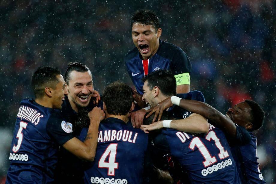 Malgré la pluie, les Parisiens peuvent rire. Ils ont égalé hier soir leur record du nombre de points glanés sur une saison de Ligue 1 (89).