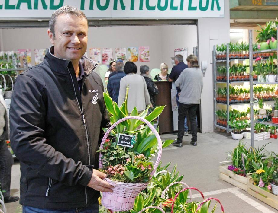 Fabrice Allard, 48 ans, horticulteur cagnois et rare producteur local de muguet.