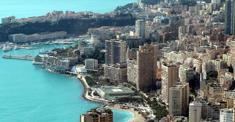 Vue générale de la Principauté de Monaco