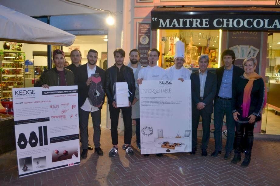 Les apprentis de Stéphane Saluzzo ont gagné le prix design chocolat en partenariat avec les étudiants de la Kedge business school et le CFA campus du Beausset.
