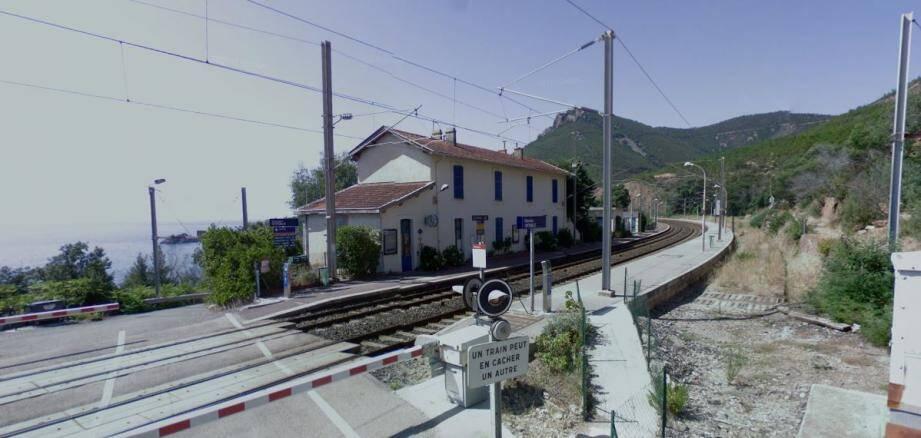 La gare où s'est déroulé le drame.