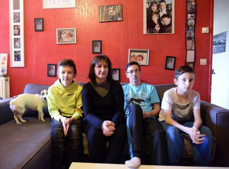 Malgré l'intégralité du loyer réuni, Christophe, Chrystèle et leurs deux fils ont été expulsés.