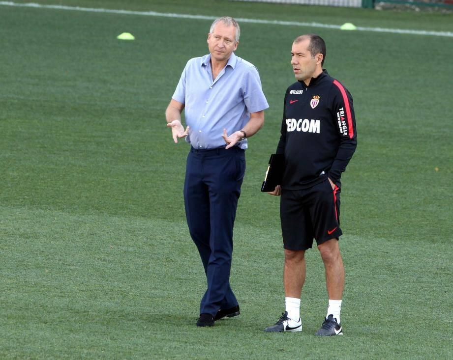 Vadim Vasilyev et Leonardo Jardim en août 2015.