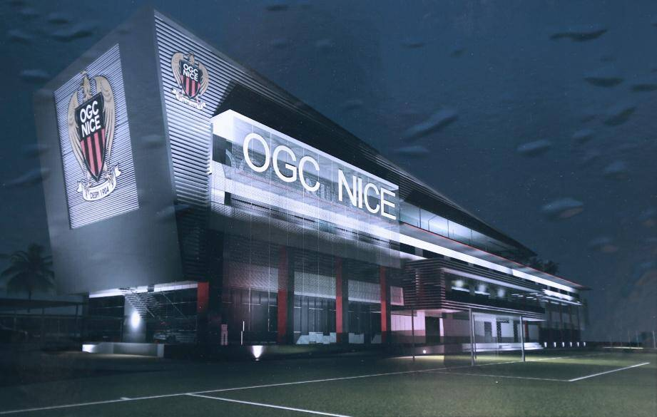 Une maquette du nouveau centre d'entraînement de l'OGC Nice.
