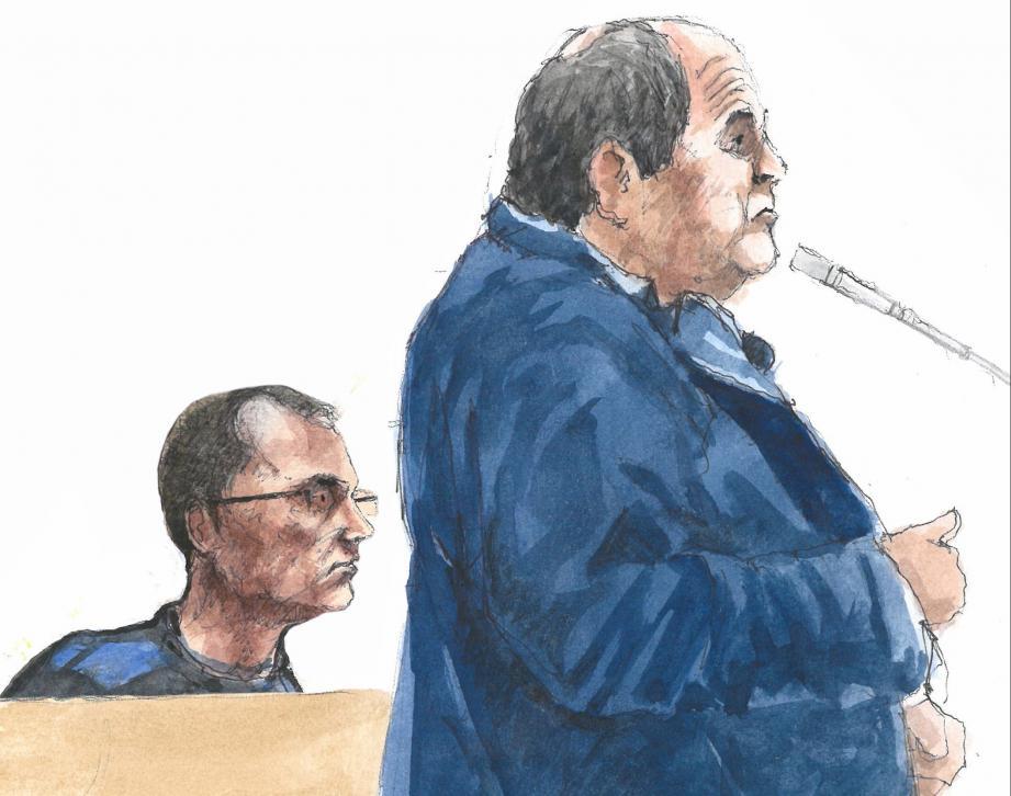 Franck Perletto (à g.) a patiemment écouté les témoins qui ont déposé