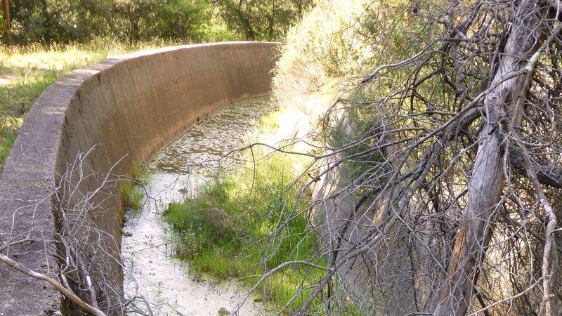 Le canal désaffecté de la Vésubie.