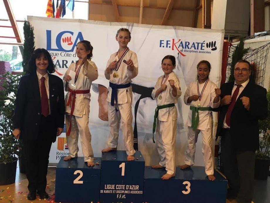 Une médaille et des places d'honneur pour l'IKC Fréjus.(DR)