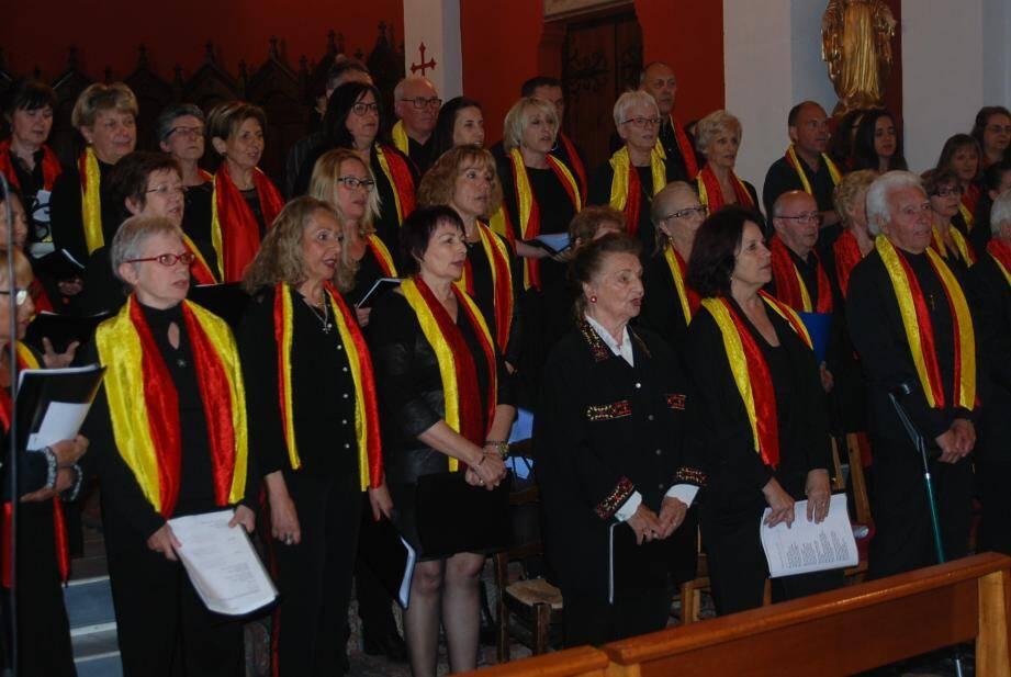 Le groupe « Alpha Gospel Singers » pendant son tour de chant.