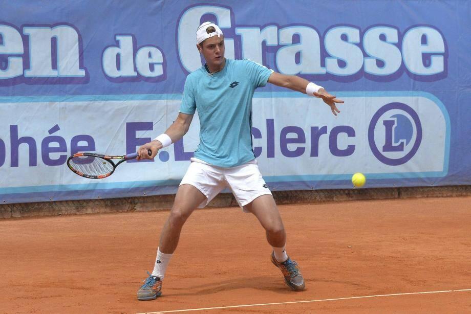 Le jeune Maxime Janvier a décroché un premier succès à Grasse hier face à Andreas Beck.